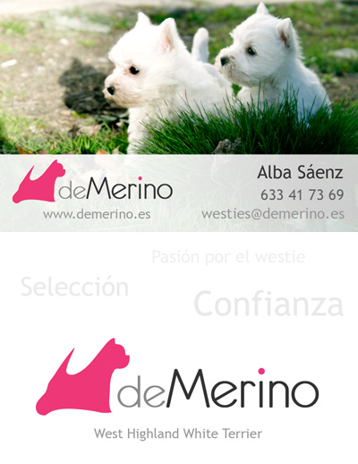 Tarjeta westies Demerino