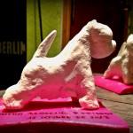 Westie de arcilla: artesanía realizada por Demerino, como regalo para cada participante.
