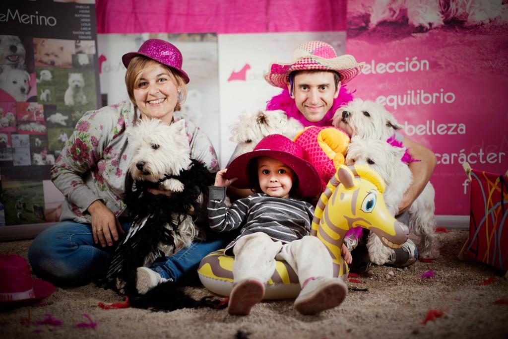 Familia en el Photocall