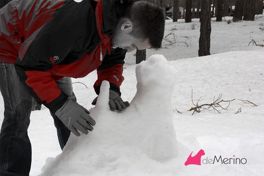 Construyendo un westie de nieve: ajustando el cuerpo y lomo