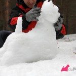 Construyendo un westie de nieve: uniendo el cuello