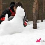 Construyendo un westie de nieve: uniendo el cuello por debajo