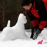 Construyendo un westie de nieve: retocando patas delanteras
