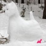 Construyendo un westie de nieve: terminado lateral izquierdo
